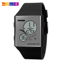 Newest Cheap Fashion Square Digital Watches Plastic Young Hand Watch