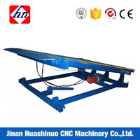 Big capacity electric dock leveler air bag loading dock ramp leveler for warehouse platform