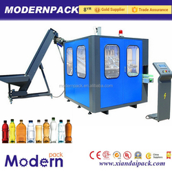 Automatic PET plastic bottle blow molding extrusion machine