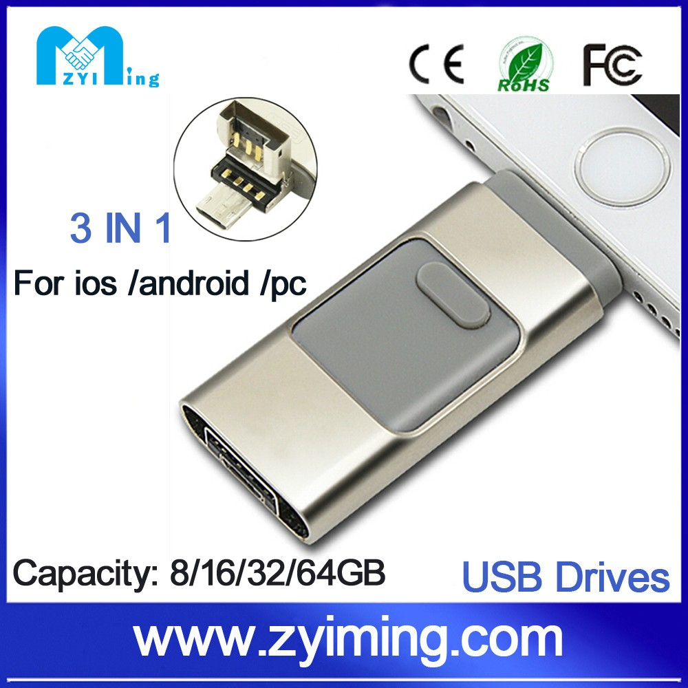 Zyiming factory wholesale otg usb 3.0 flash drive 1000gb pen drives for iphone free samples