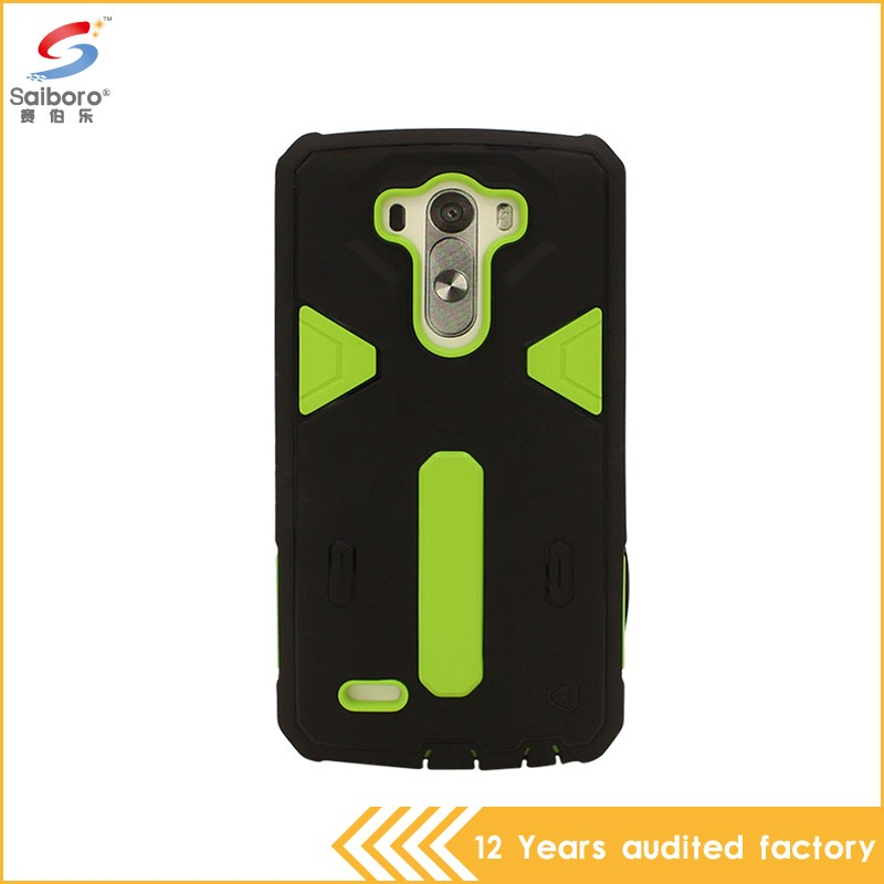New arrival high quality design tpu+pc cell phone case for lg g3