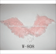 White colored feather angel wings for dancing party - China manufacturer W-1116 50*51CM