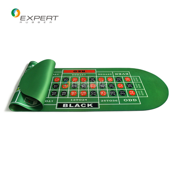 Customize gambling table mats poker table mats with natural rubber