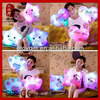 Soft cute valentines wholesale gift shine plush toys stuffed LED pillow