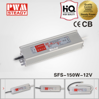 IP67 waterproof led driver switching power supply 150w dc 12v 12.5a for strip light 12a
