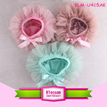 Boutique wholesale baby around ruffle bloomers bowknot solid color chiffon kid's clothing