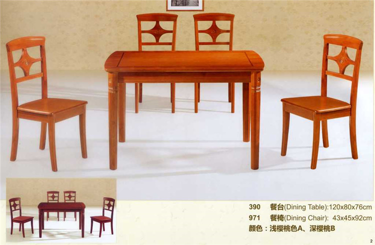 Cheap Promotion Price Solid Mahogany Dining Room Set