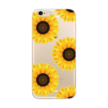 Crystal clear flower patterns soft tpu back case tpu case for iPhone 6/6s 7 7 Plus,mobile phone shell