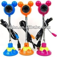 Camera Cute Mikey PC Webcam w/ Gooseneck Suction Mount +Mic