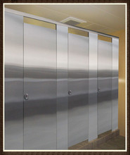 Stainless Steel Phenolic Compact HPL Public Toilet Partition Used for High Grade Furniture