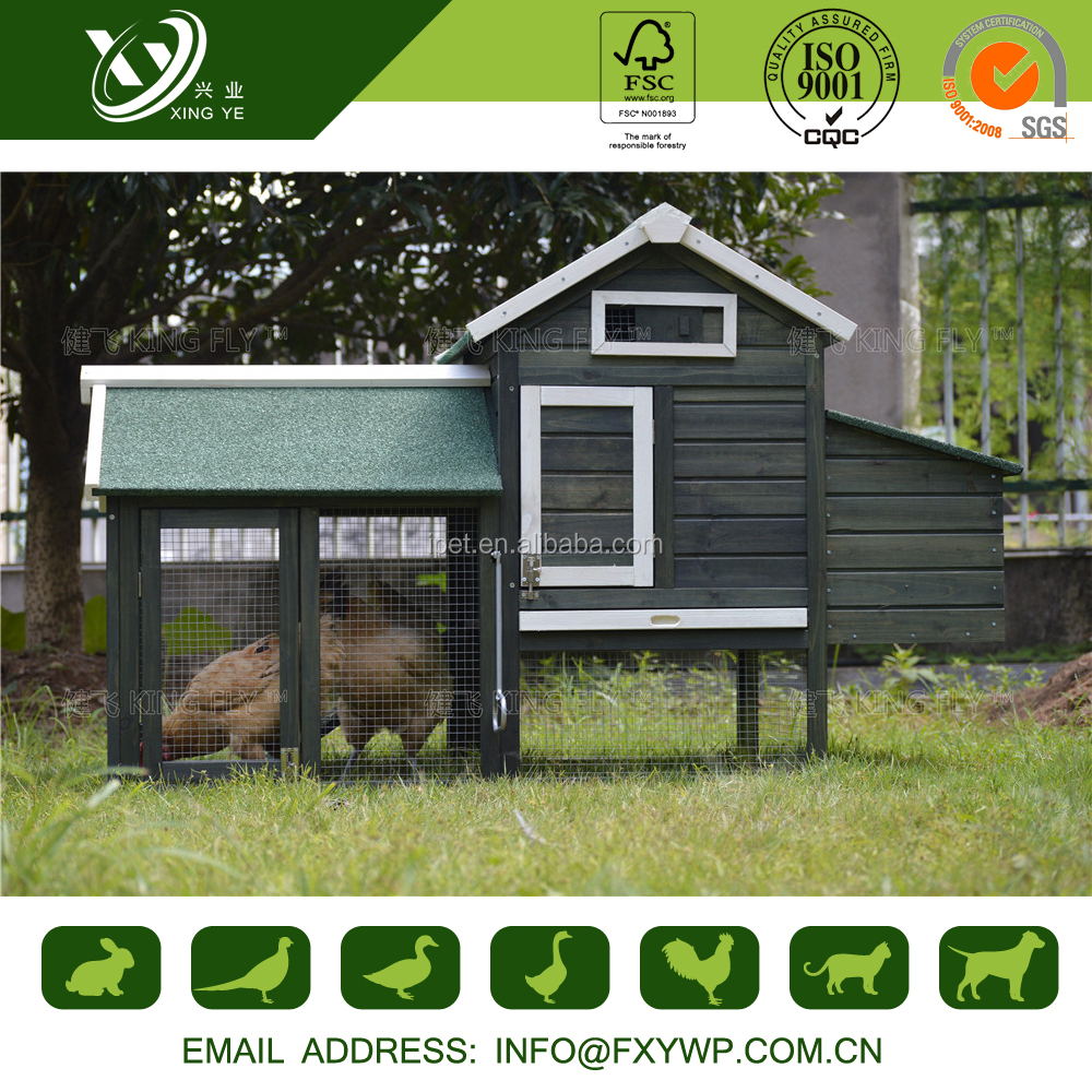 unique design waterproof wooden fancy chicken coops with large run