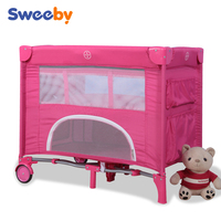Small size pink baby playard