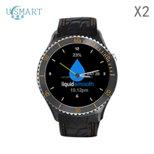1.33 inch round smart watch X2 MTK 6580 3G android bluetooth smartwatch touch screen watch OEM brand phone