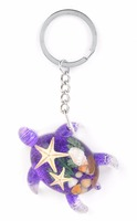 New Hot sale REAL ocean shells turtle souvenir gift keychain for sale