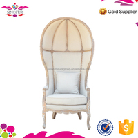 Wholesale Qingdao Sinofur OEM morden round high back wooden hotel sofa chair