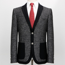 2017 Men's Dress Sample Blazer Slim Jacket Style Mens Leisure Suit