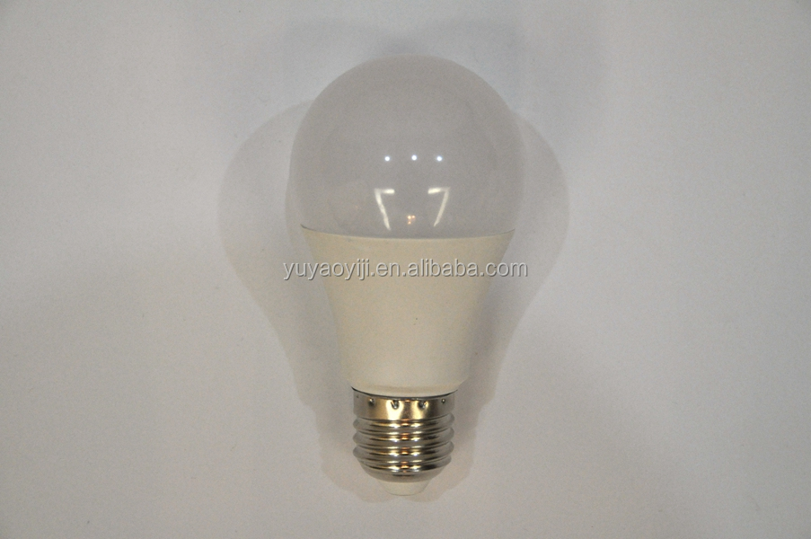 Aluminum + plastic dimmable led bulb a60 10W housing b22 e26 e27 led bulb fixtures