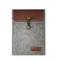 J.M. SHOW Tablet Sleeve Bag Envelope PU Leather Case Wool Felt Sleeve Bag for IPad mini IPad mini 2 ( 8 inch General Style )
