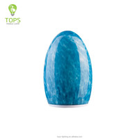 China supplier egg shape blue usa table lamp manufacturers