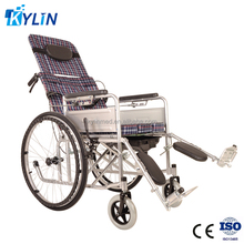 cheapest reclining cerebral palsy commode wheelchair with toilet KLT008
