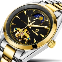 Tevise skeleton watches men luxury brand automatic