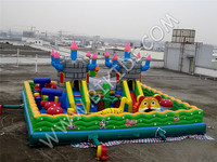 Giant Bouncy Park Inflatable castle playground, inflatable fun city B5033