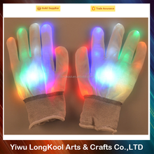2016 Newest design party flashing gloves funny led gloves