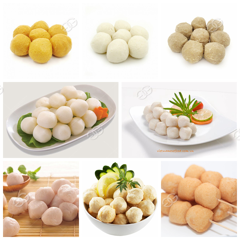 Commercial Automatic Stuffed Fishball Maker Meat Ball Fish Ball Rolling Making Processing Machinery Meatball Forming Machine