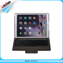 New design bluetooth keyboard case,PU leather keyboard case stand for iPad Pro 12.9 BK129-7