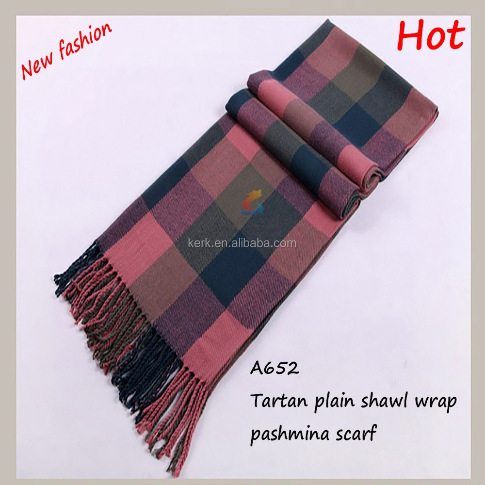 Large red camel red blanket oversized tartan cashmere shawl pashmina fashionable <strong>scarf</strong>