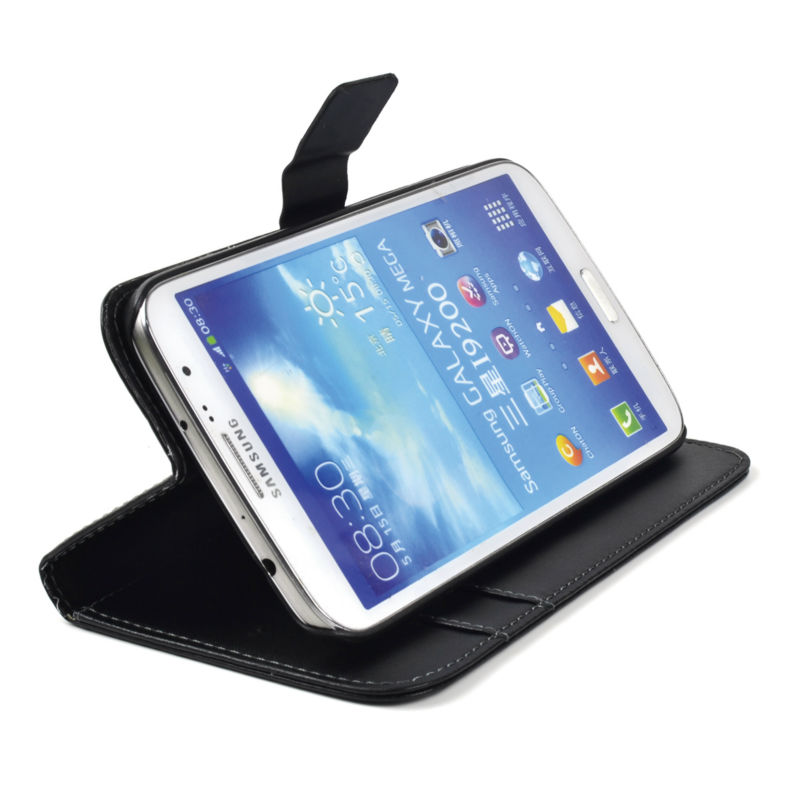 Factory price Magnet Slide Flip Book style Card Holder PU Wallet Leather Case for Samsung Galaxy S2 I9100