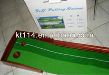 Customized quality Red Wooden Golf Putting Trainer
