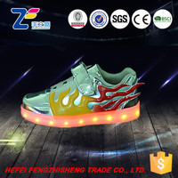 JLS1409 led latest girls canvas shoes latest design leather shoes