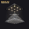 modern decorative stainless steel LED lighting crystal chandelier China supplier