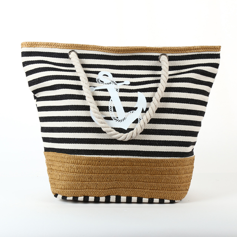 Strong Striped Canvas Classy <strong>Shoulder</strong> & Tote Bags For Beach