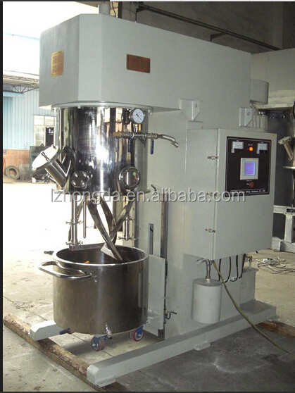High efficiency liquid silicone rubber planetary power mixer