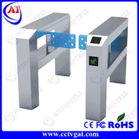 Stainless steel automatic bi-directional turnstile barrier security swing gate opener rfid card access control system