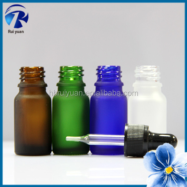 10ml essencial oil amber glass dropper bottle / vial for cosmetic