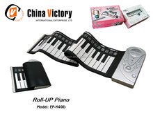 latest hot sell silicone electronic roll up musical keyboards.