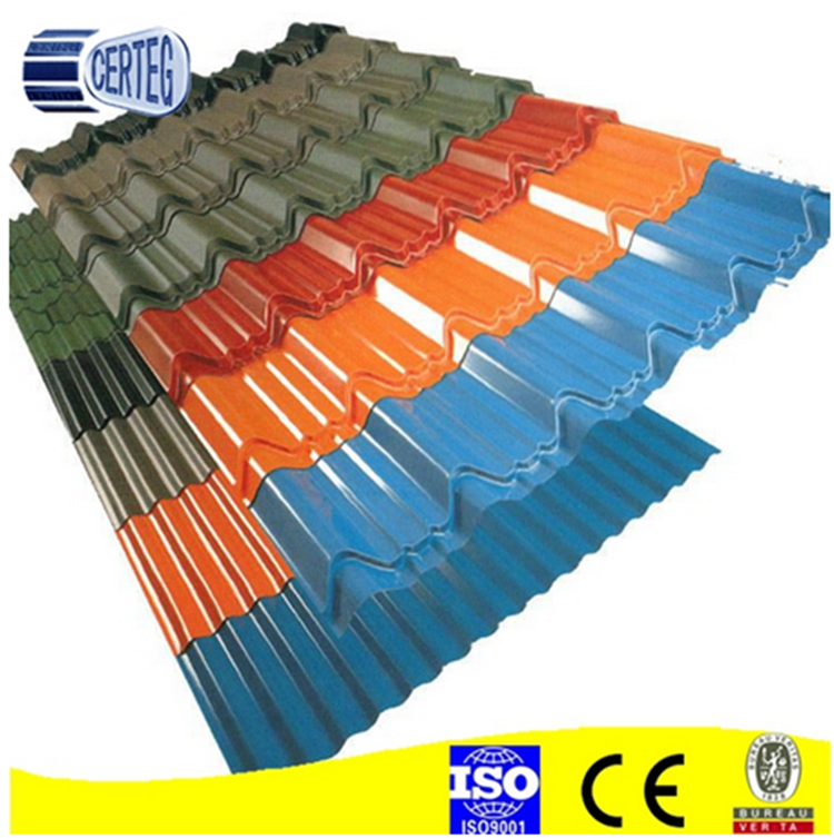 Professional made simple design colour painted roofing sheet corrugated roof with best price