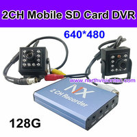 Economical 2CH H.264 vehicle mobile DVR with loop recording and overwriting for Car Bus Taxi Truck