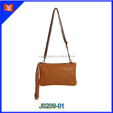 Wholesale Brown Genuine Leather Ladies Evening Clutch Bags Crossbody Bag