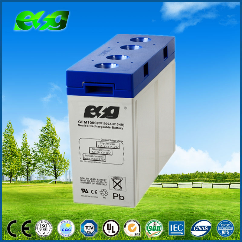 Rechargeable deep cycle lead acid solar energy storage battery 2v 1000ah
