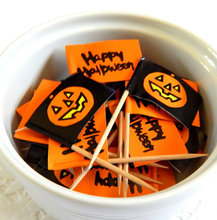 Halloween Custom Party Cupcake Flags Toothpick