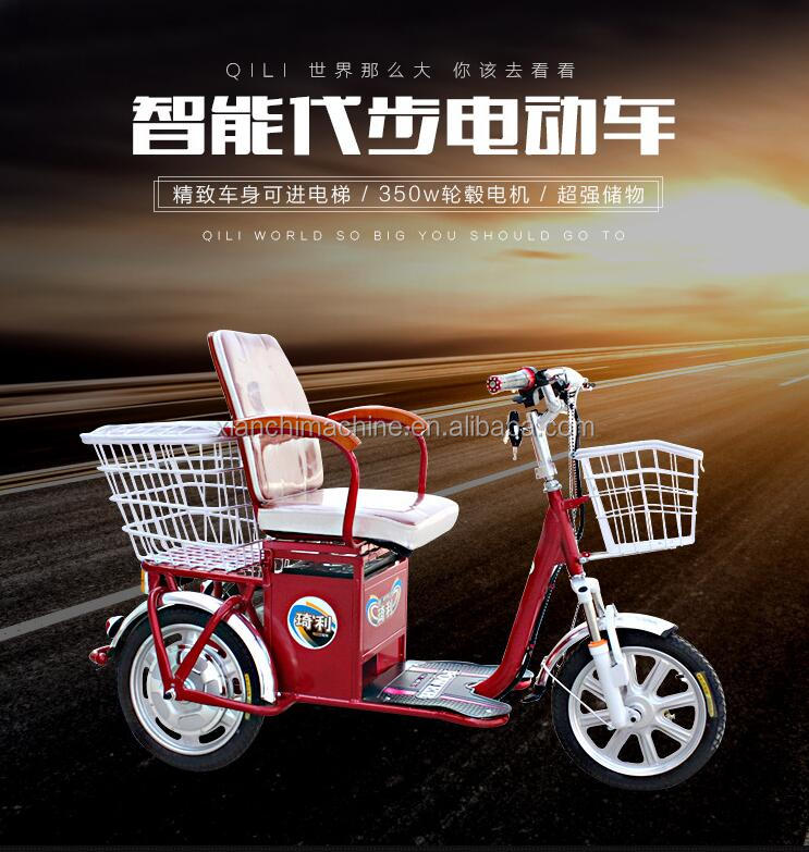hot sale New design luxury 3 wheel electric tricycle closed for handicapped with warmer leisure