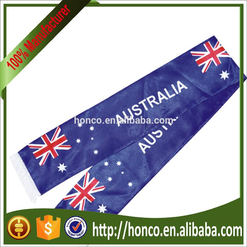 Cheapest satin Australia scarf for football fans Europe cup