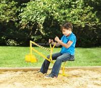 Sit on working Crane Sandbox Digger Bucket Kids Beach Toy