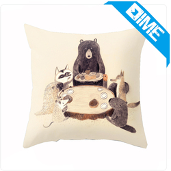 2016 Cute Painting Fancy Blank throw material pillow cover