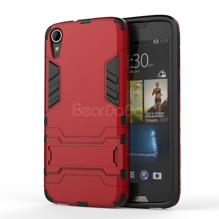 Kickstand tpu back cover for htc desire 828 case
