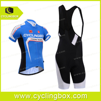 Men's pro team biking jersey cycling jersey/bicycle clothing-blue with bib